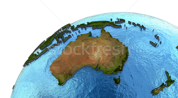 Australiano continente tierra Australia detallado modelo Foto stock © Harlekino