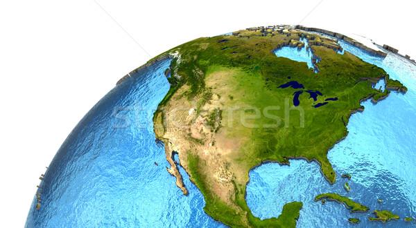 Foto d'archivio: Settentrionale · americano · continente · terra · america · dettagliato