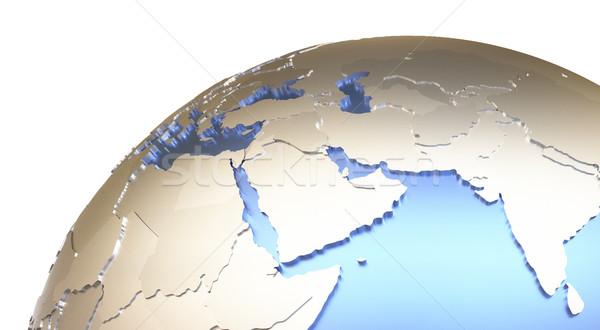 Orta Doğu madeni toprak bölge model dünya gezegeni Stok fotoğraf © Harlekino