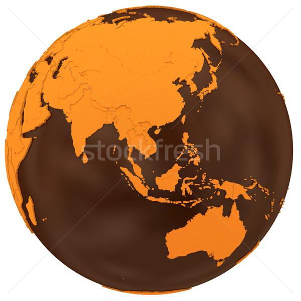 Азии шоколадом земле модель планете Земля Сток-фото © Harlekino