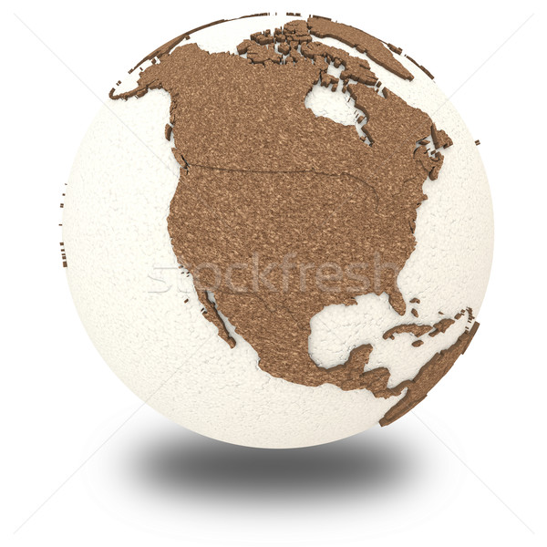 North America on light Earth Stock photo © Harlekino