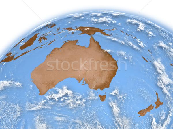 Австралия земле планете Земля изолированный белый Элементы Сток-фото © Harlekino