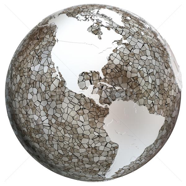 Americas on translucent Earth Stock photo © Harlekino
