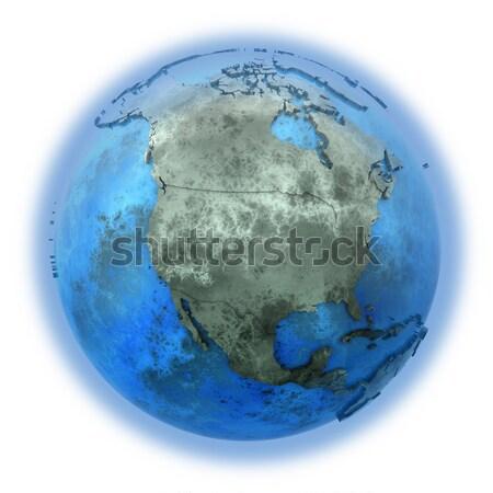 América del sur mármol planeta tierra 3D modelo azul Foto stock © Harlekino