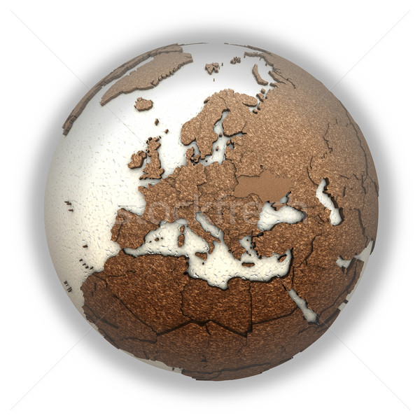 Europa luz terra 3D modelo planeta terra Foto stock © Harlekino