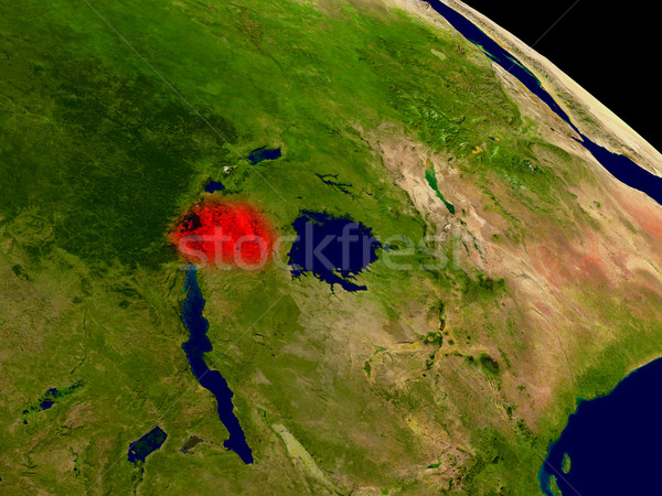 Rwanda from space Stock photo © Harlekino