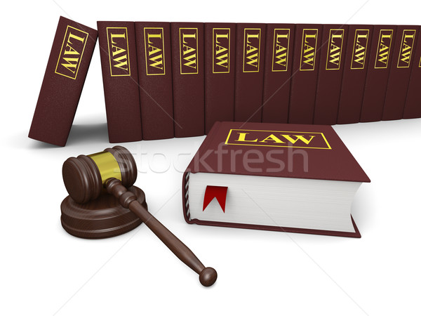 Legal literatura gabela lei livros branco Foto stock © Harlekino
