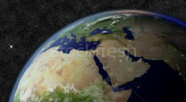 Oriente Medio espacio elementos imagen mundo mapa Foto stock © Harlekino