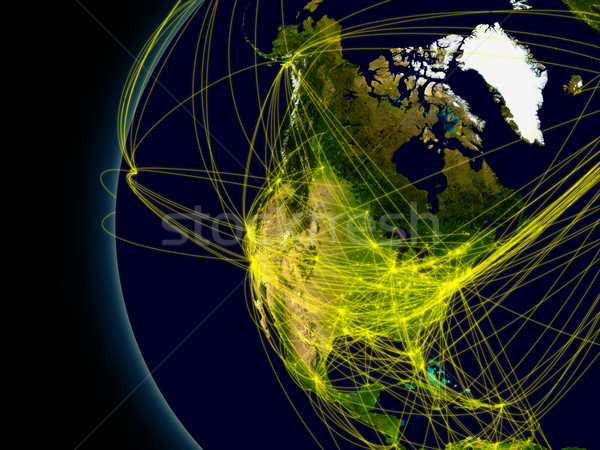 North America connections Stock photo © Harlekino