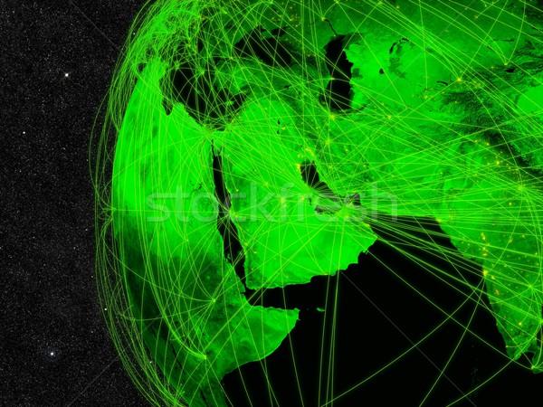 Közel-Kelet hálózat informatika elemek kép felhők Stock fotó © Harlekino