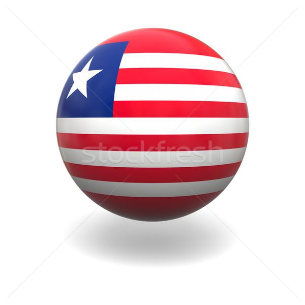 Liberian flag Stock photo © Harlekino