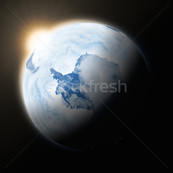 Sun over Antarctica on planet Earth Stock photo © Harlekino