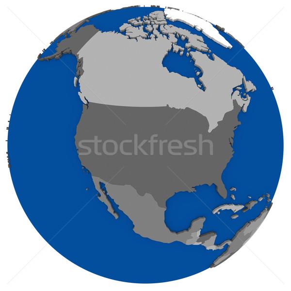 north America on Earth political map Stock photo © Harlekino