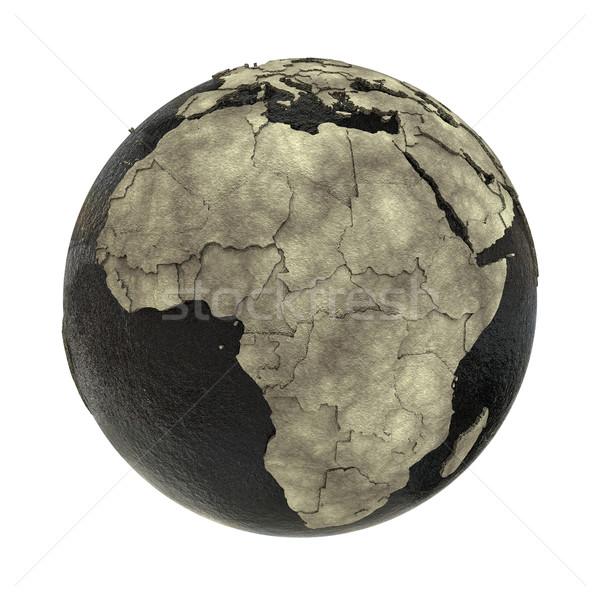 Afrika toprak yağ 3D model dünya gezegeni Stok fotoğraf © Harlekino