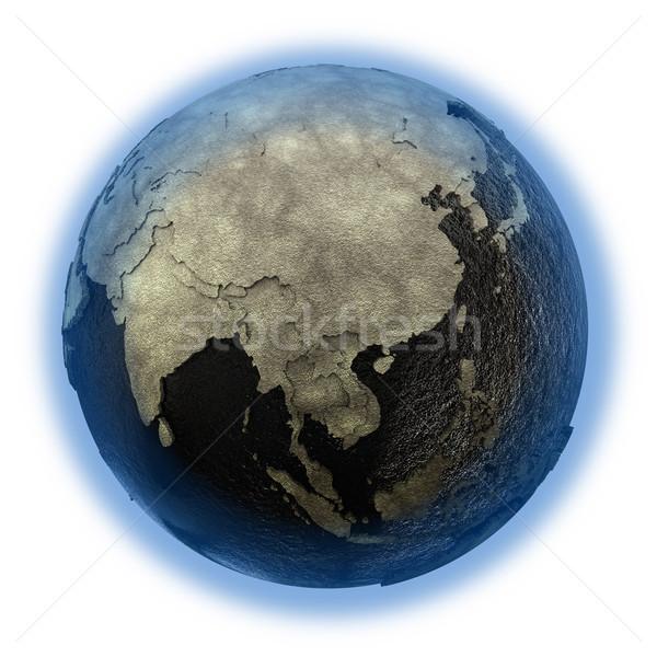 Sud-est asiatico terra olio 3D modello pianeta terra Foto d'archivio © Harlekino
