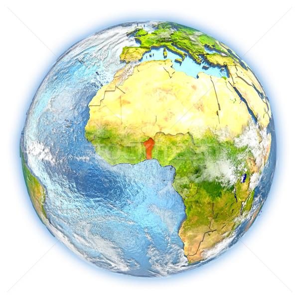 Benin terra isolato rosso pianeta terra illustrazione 3d Foto d'archivio © Harlekino