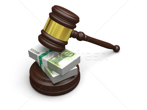 деньги прав правосудия высокий правовой сборы Сток-фото © Harlekino