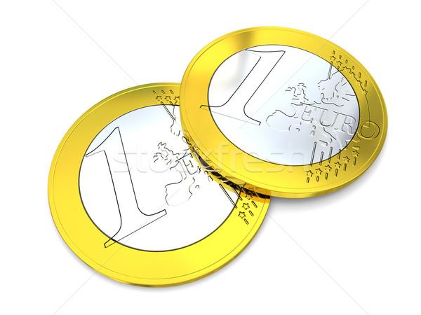 Stock photo: One Euro coins