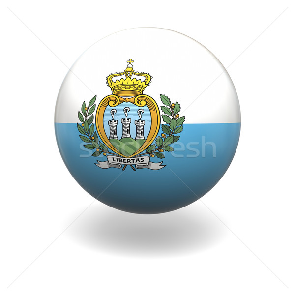 Сан-Марино флаг сфере изолированный белый Сток-фото © Harlekino