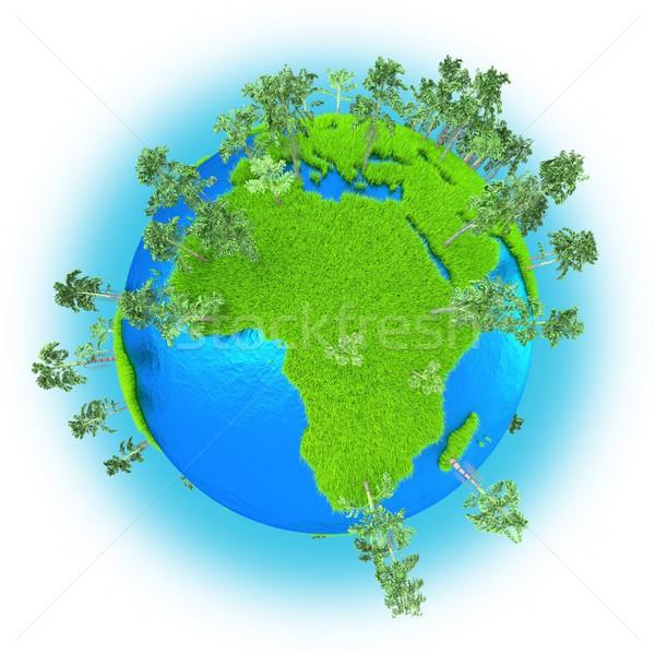 Africa and Western Asia on planet Earth Stock photo © Harlekino