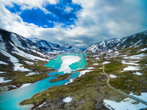 Cênico montanha Noruega paisagem Foto stock © Harlekino