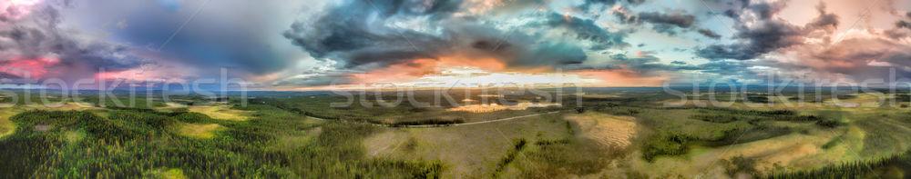 Storms from air Stock photo © Harlekino
