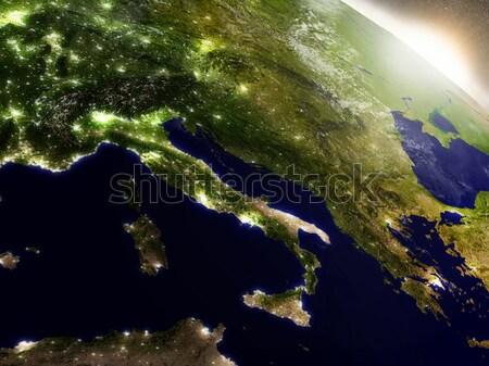 Суринам пространстве Восход регион орбита 3d иллюстрации Сток-фото © Harlekino