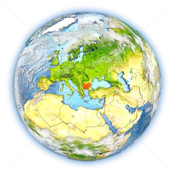 Bułgaria ziemi odizolowany czerwony planety Ziemi 3d ilustracji Zdjęcia stock © Harlekino
