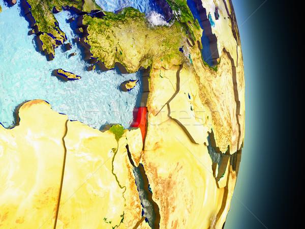 Israel in red from space Stock photo © Harlekino
