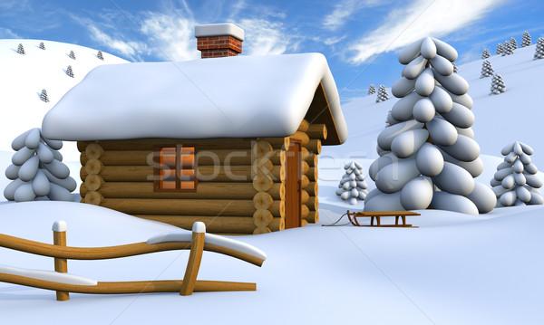 Log cabin Stock photo © Harlekino