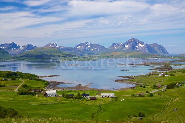 Schilderachtig eilanden panorama Noorwegen landschap zomer Stockfoto © Harlekino