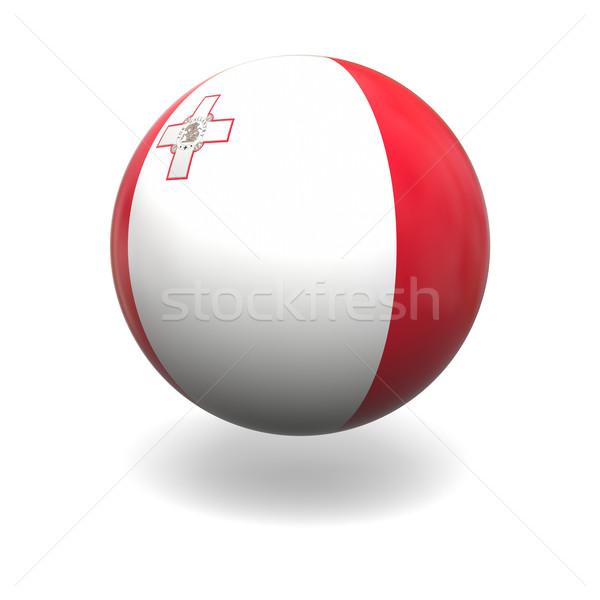 マルタ フラグ 球 孤立した 白 グラフィックス ストックフォト © Harlekino