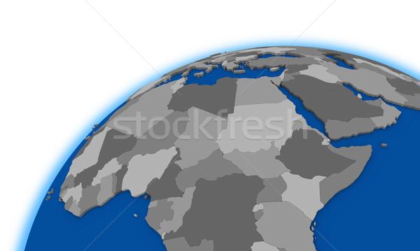 セントラル アフリカ 世界中 政治的 地図 ストックフォト © Harlekino