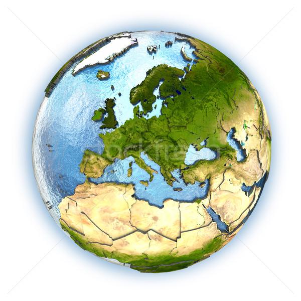 Europa planeta terra continentes país isolado Foto stock © Harlekino