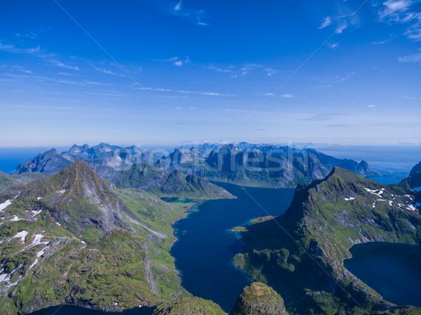 Peaks and fjords on Lofoten Stock photo © Harlekino