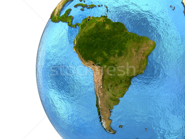 South American continent on Earth Stock photo © Harlekino