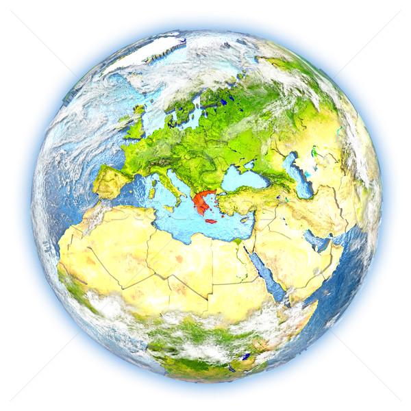 ギリシャ 地球 孤立した 赤 地球 3次元の図 ストックフォト © Harlekino