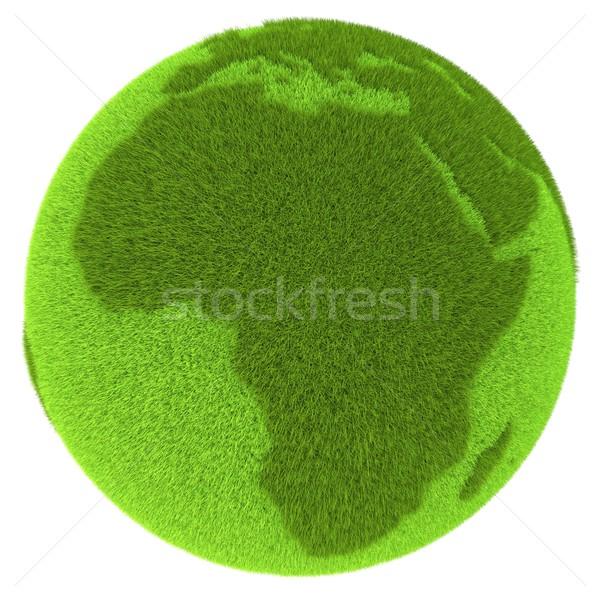 Stockfoto: Afrika · groene · planeet · afrikaanse · continent · gedekt