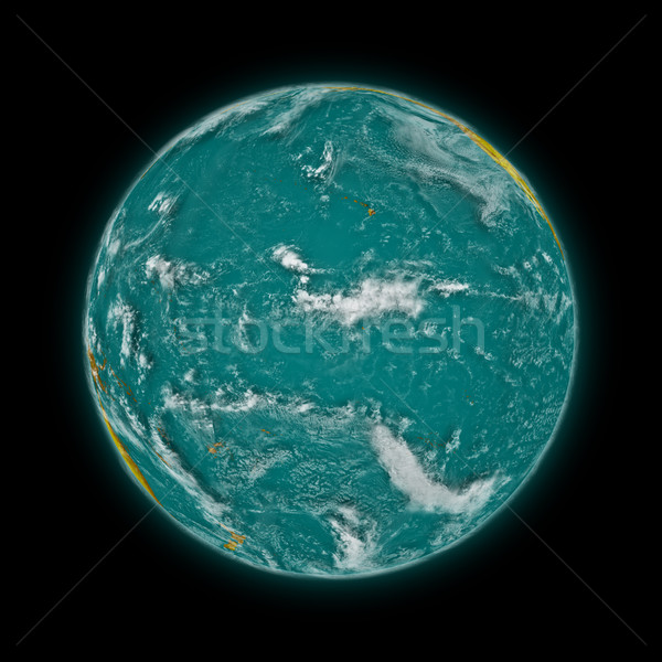 Pacific Ocean on planet Earth Stock photo © Harlekino