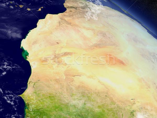 モーリタニア スペース 地域 軌道 3次元の図 ストックフォト © Harlekino