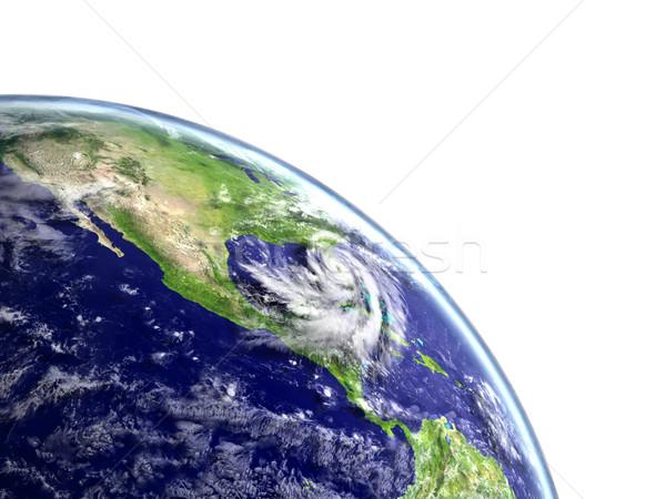 Hurrikán Amerika hatalmas amerikai part Florida Stock fotó © Harlekino