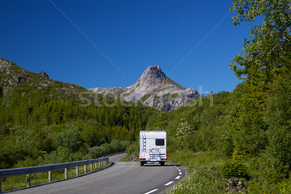 Roadtrip on Lofoten Stock photo © Harlekino