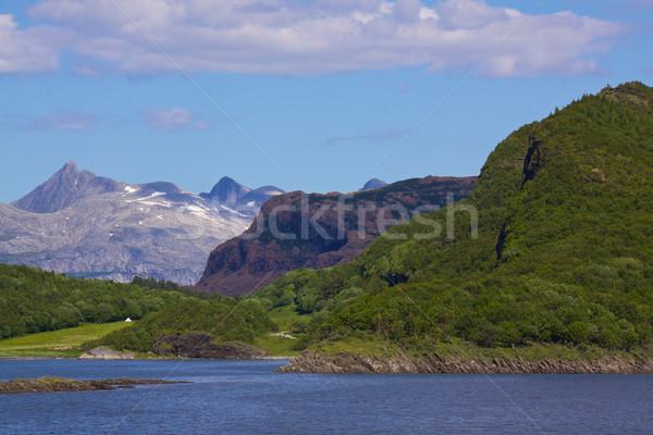 Noors typisch steil bergen natuur panorama Stockfoto © Harlekino