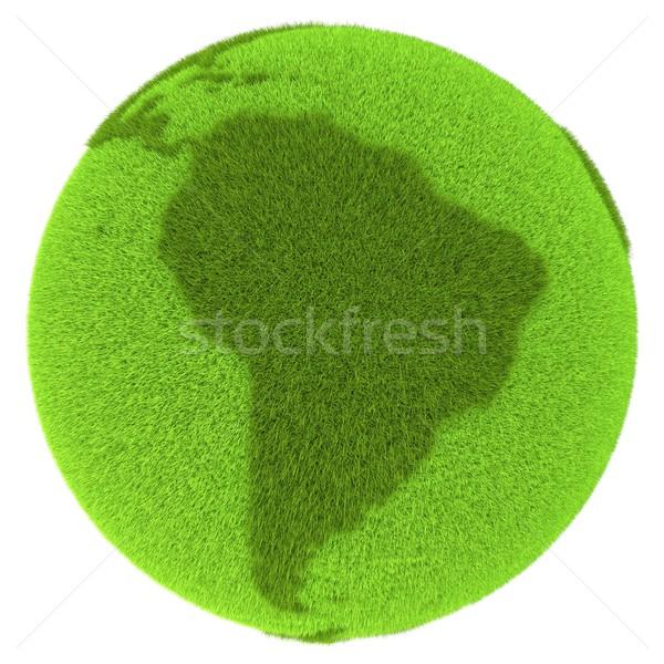 América del sur verde planeta cubierto hierba aislado Foto stock © Harlekino