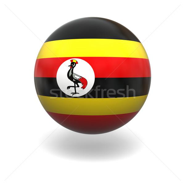Uganda zászló gömb izolált fehér Stock fotó © Harlekino