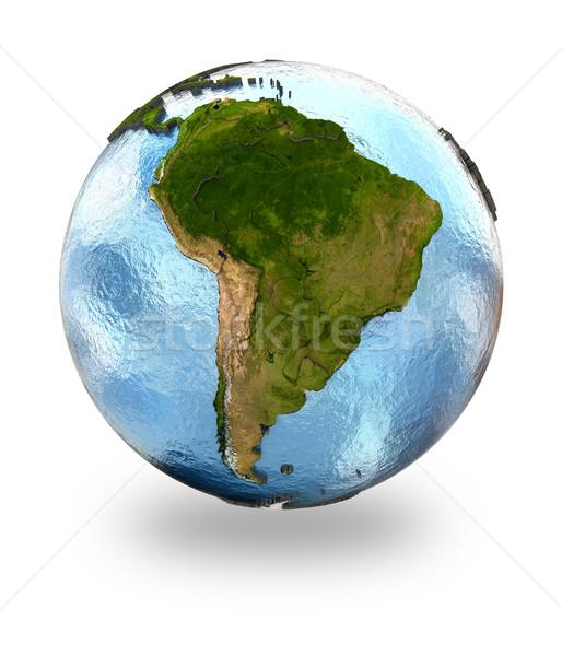 Южной Америке земле подробный планете Земля Континенты Сток-фото © Harlekino