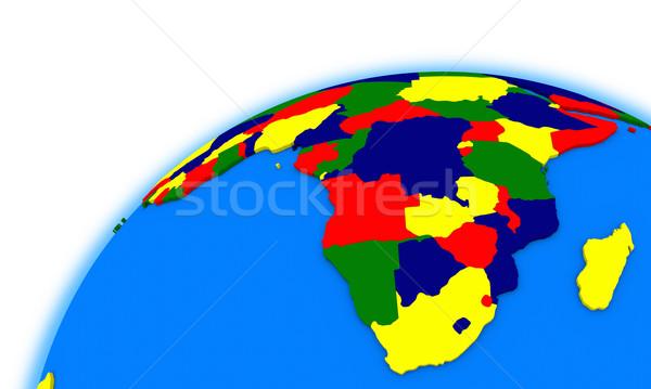 Dél-Afrika földgömb politikai térkép Afrika nemzetközi Stock fotó © Harlekino