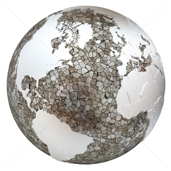 North America and Europe on translucent Earth Stock photo © Harlekino