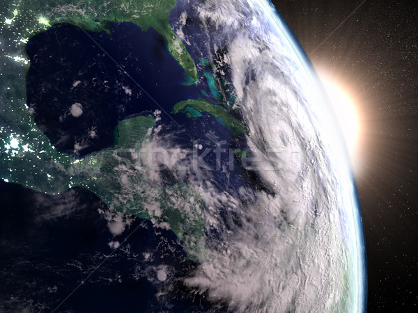 Hurricane Matthew seen from space Stock photo © Harlekino