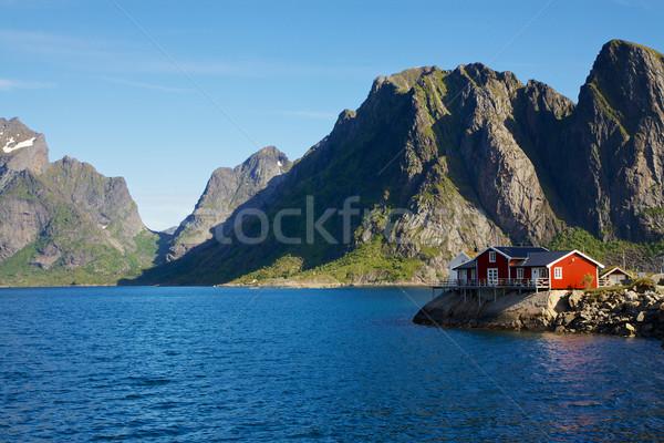 House by fjord Stock photo © Harlekino